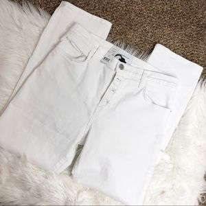 Current/Elliot- The Original Straight White Jeans